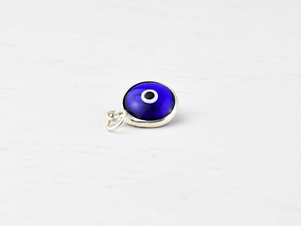 Evil Eye Pendant Silver blue colour australia