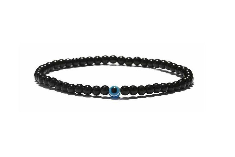 Evil Eye Plain Black Bracelet Beads Evil Eye Sydney Grand Bazaar