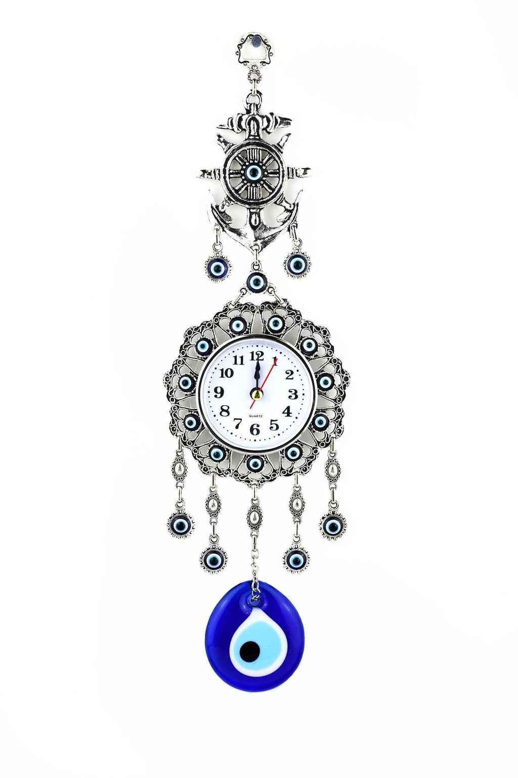 Evil Eye Wall Clock Anchor Design Medium Evil Eye Sydney Grand Bazaar