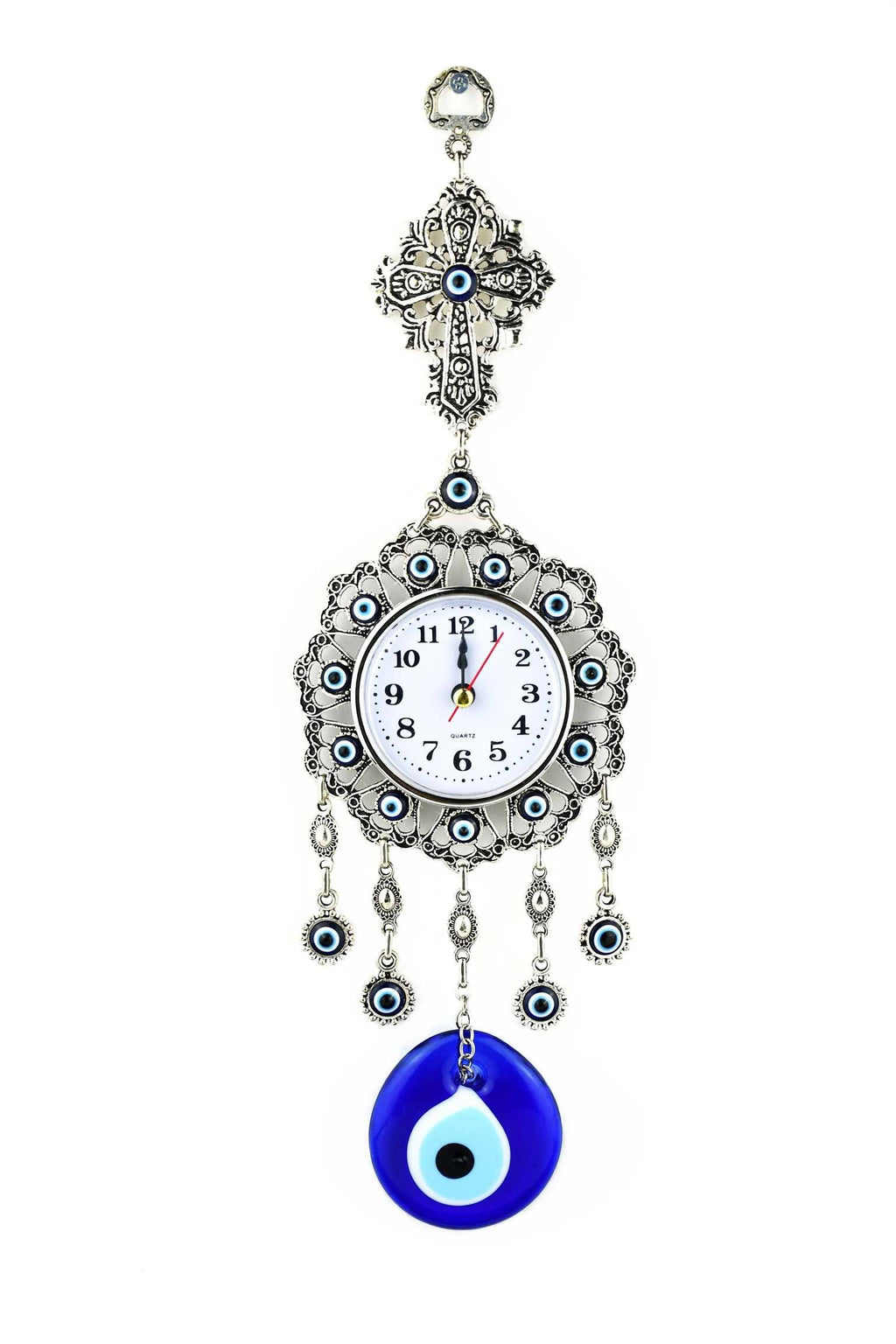 Evil Eye Wall Clock Cross Design Medium Evil Eye Sydney Grand Bazaar