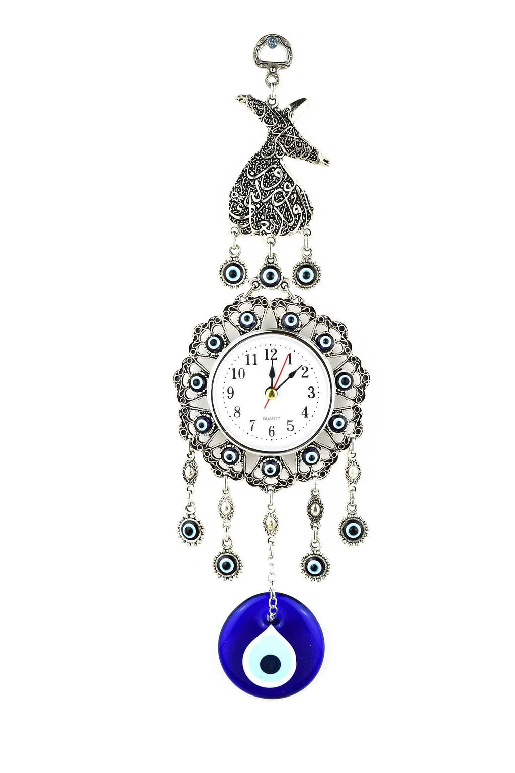 Evil Eye Wall Clock Dervish Design Medium Evil Eye Sydney Grand Bazaar