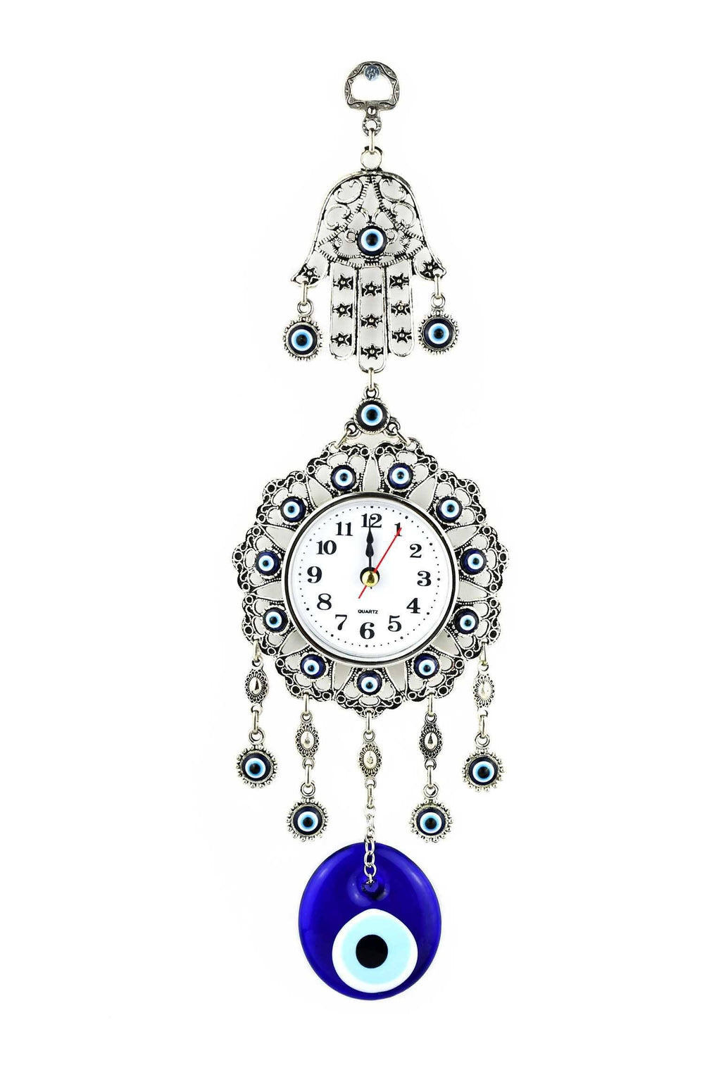 Evil Eye Wall Clock Hamsa Hand Design Medium Evil Eye Sydney Grand Bazaar