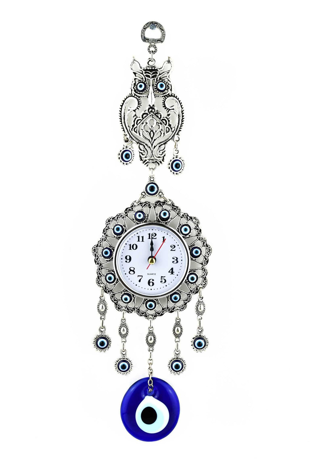 Evil Eye Wall Clock Owl Design 1 Medium Evil Eye Sydney Grand Bazaar