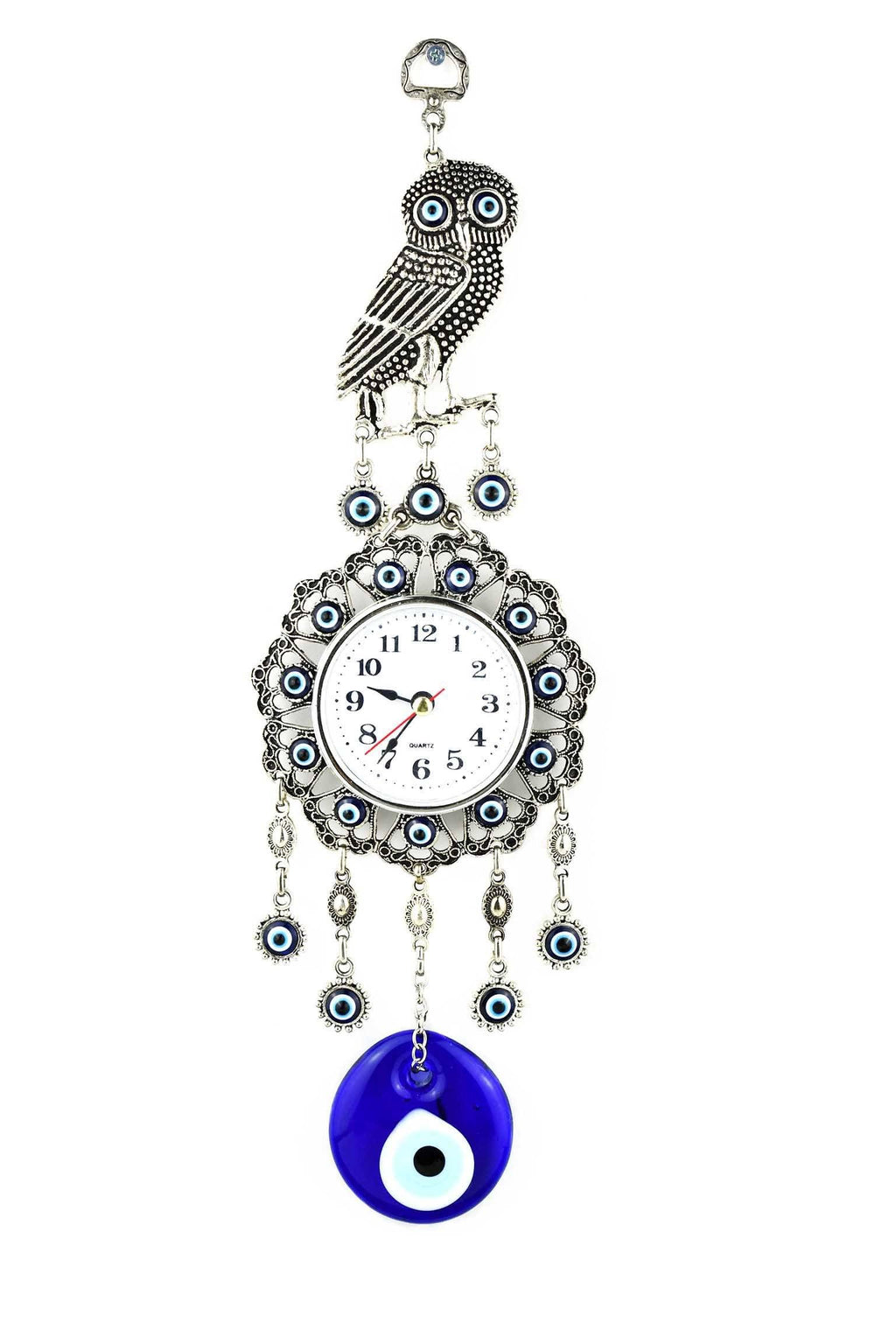 Evil Eye Wall Clock Owl Design 2 Medium Evil Eye Sydney Grand Bazaar