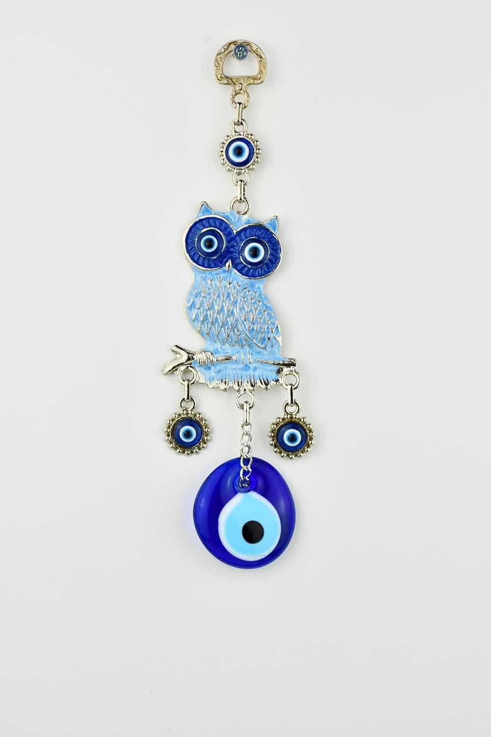Evil Eye Wall Ornament Owl Light Blue Evil Eye Sydney Grand Bazaar