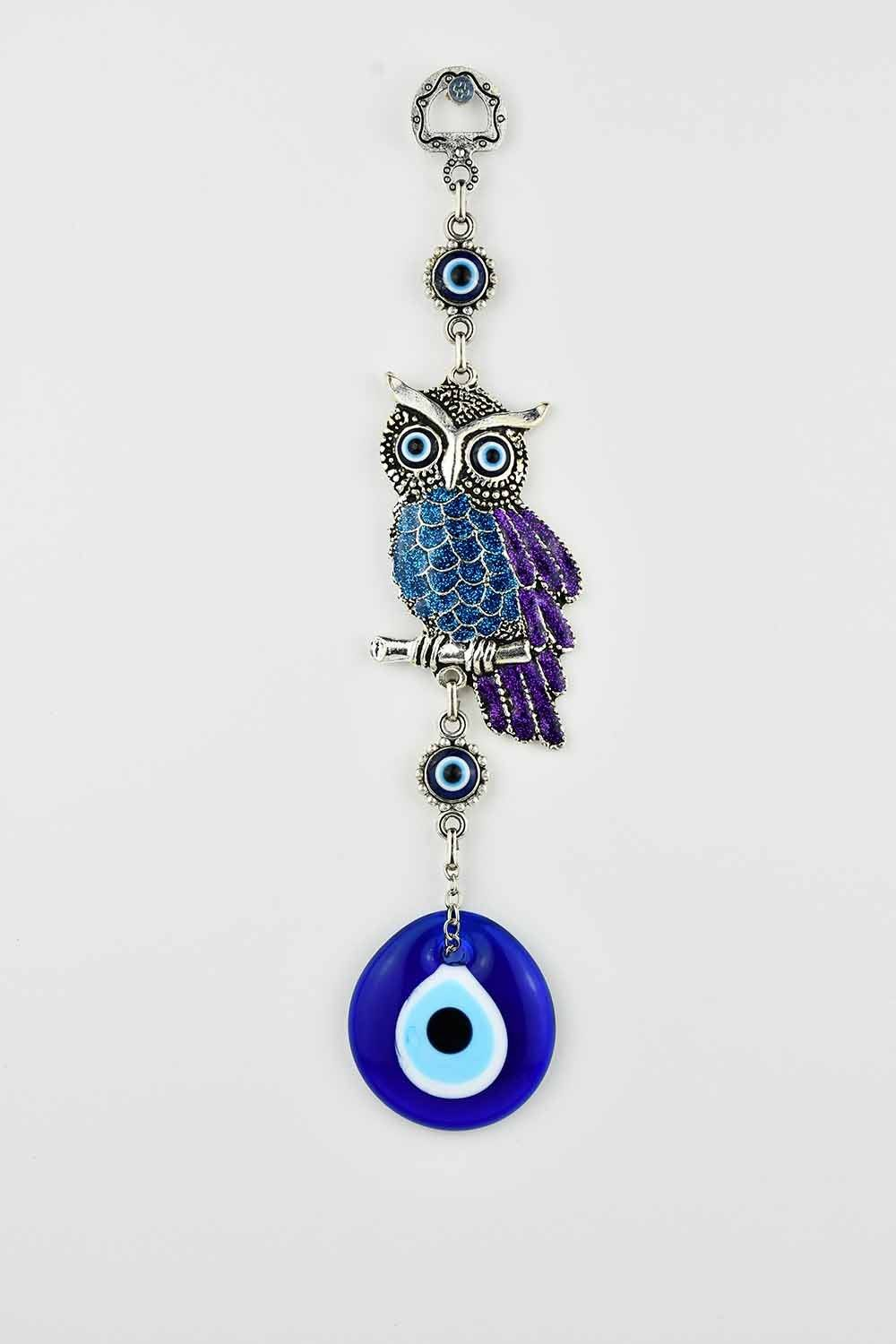 Evil Eye Wall Ornament Owl Multicoloured Evil Eye Sydney Grand Bazaar