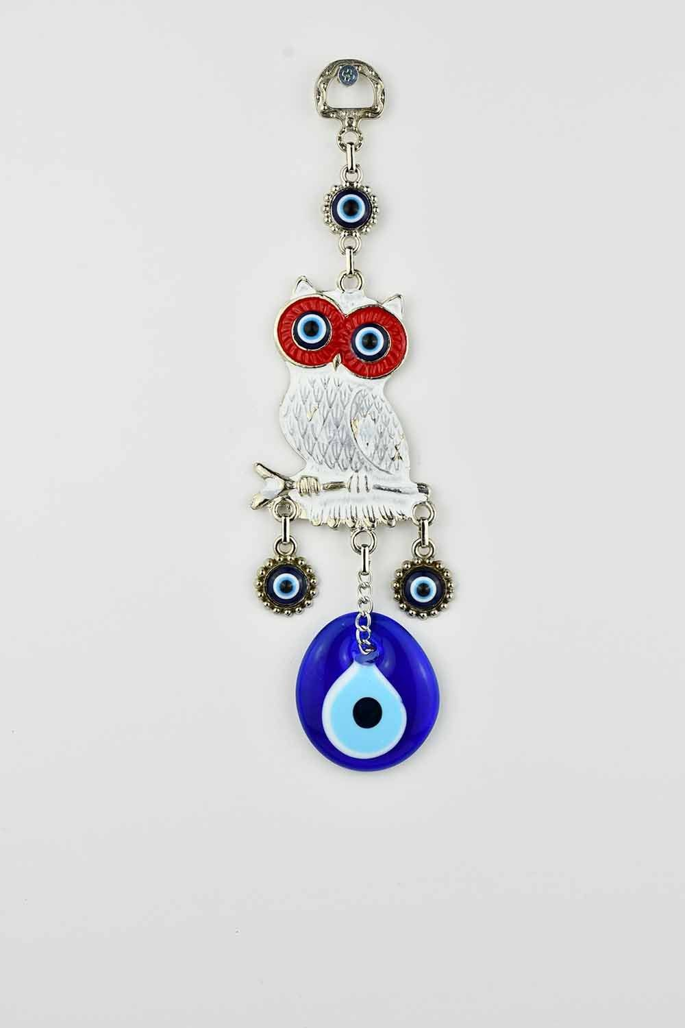 Evil Eye Wall Ornament Owl White Evil Eye Sydney Grand Bazaar