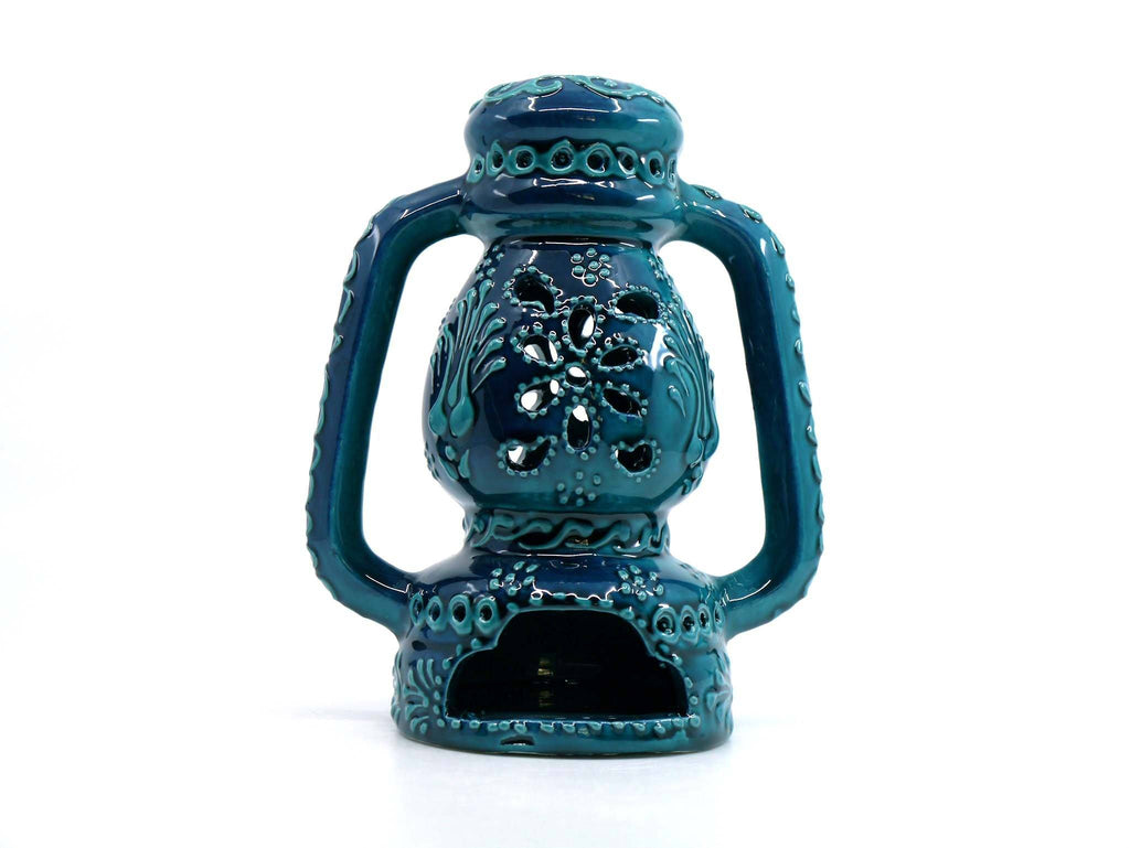 Turkish Ceramic Oil Burner Turquoise Green