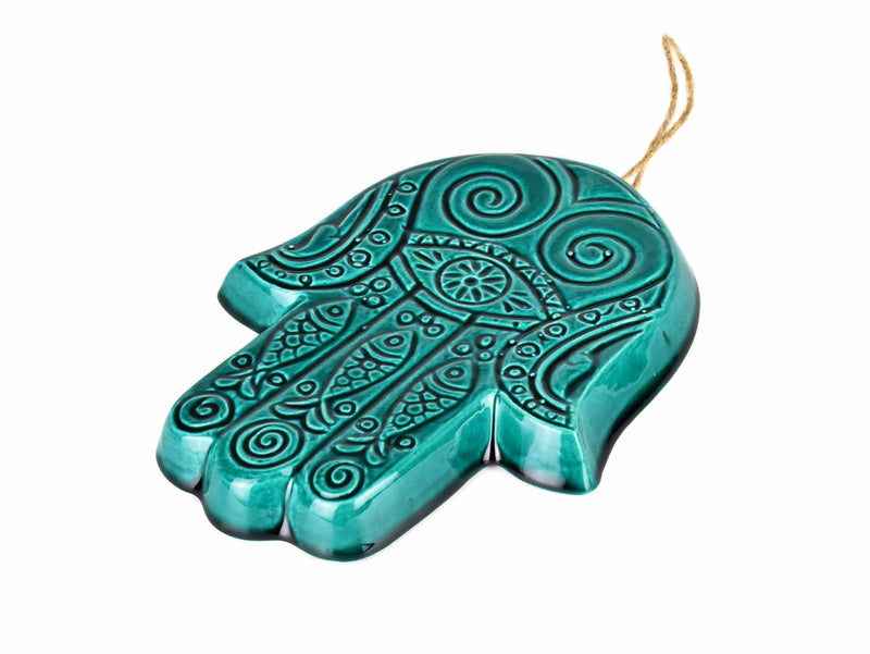 Anatolian Ceramic Mask Wall Decor Turquoise Green