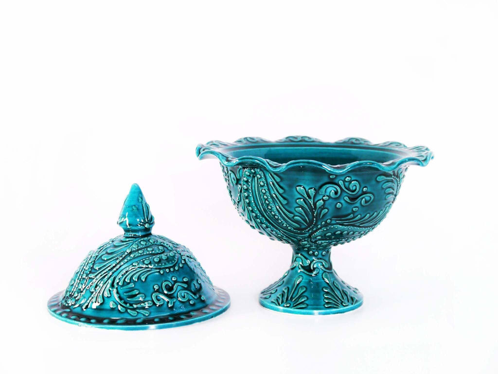 Turkish Ceramic sugar bowls Green