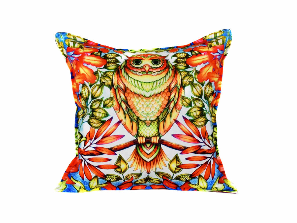 Owl Cushion Cover Design 1 Textile Sydney Grand Bazaar