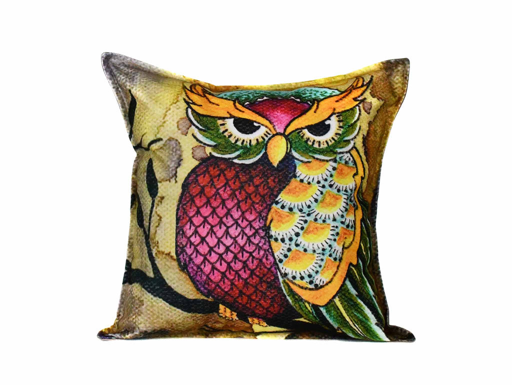 Owl Cushion Cover Design 2 Textile Sydney Grand Bazaar