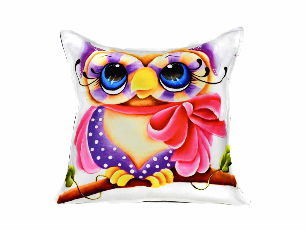 Owl Cushion Cover Design 3 Textile Sydney Grand Bazaar