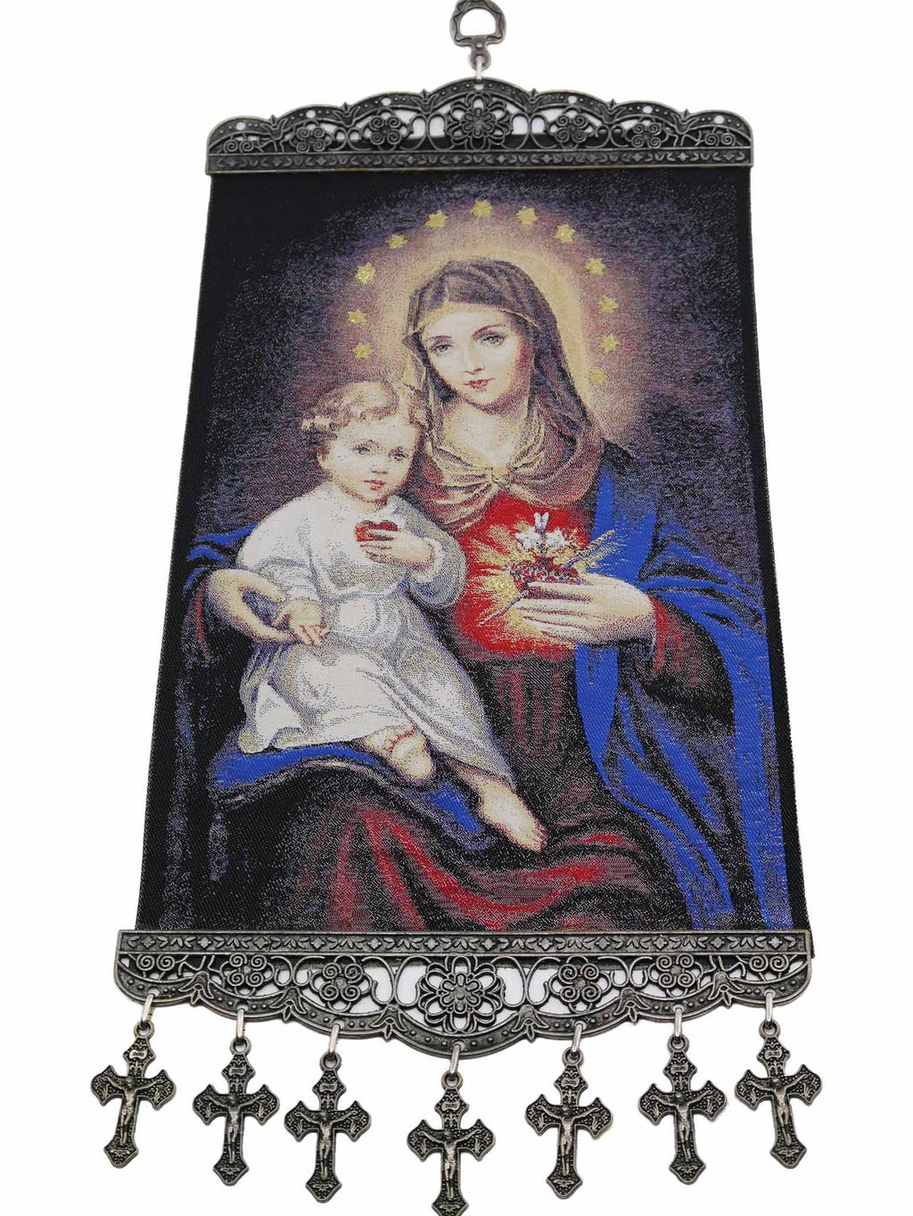 religious tapestry wall hanging