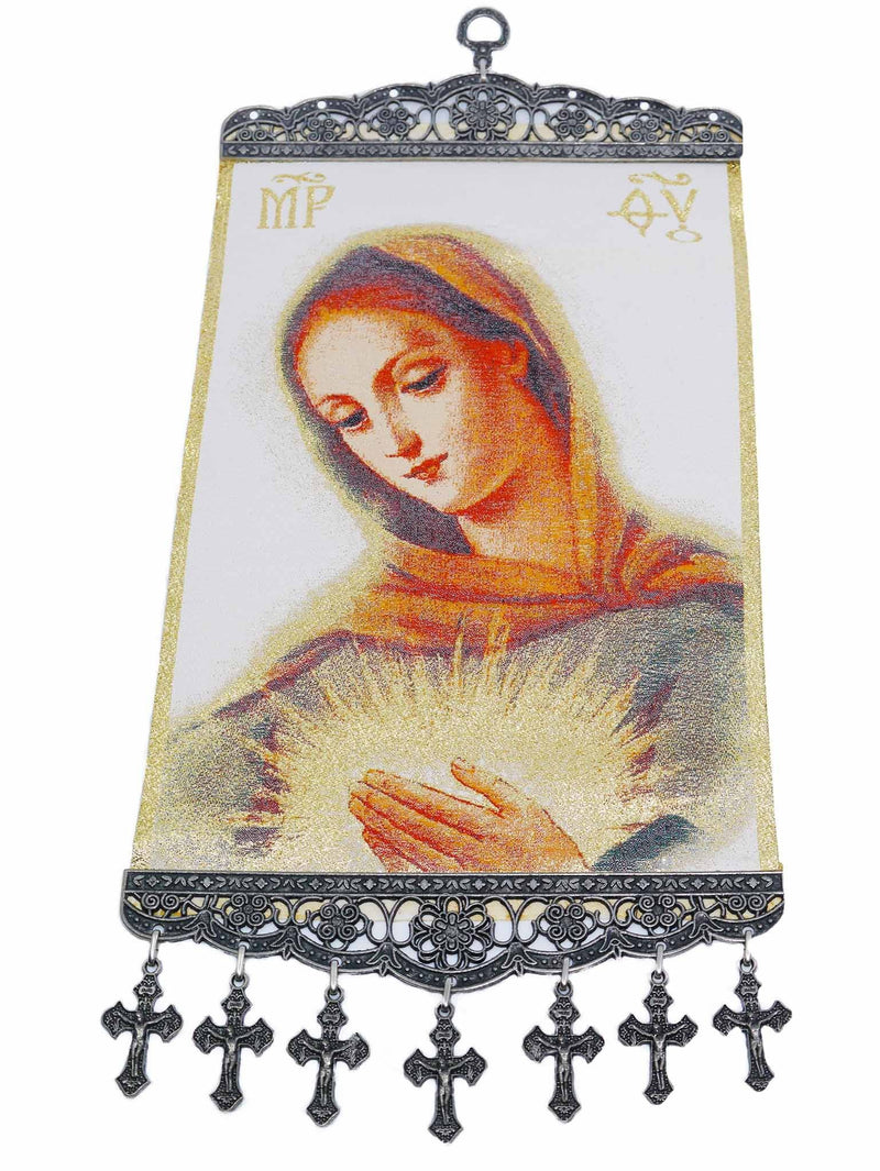 Woven Religious Tapestry Wall Hanging L01