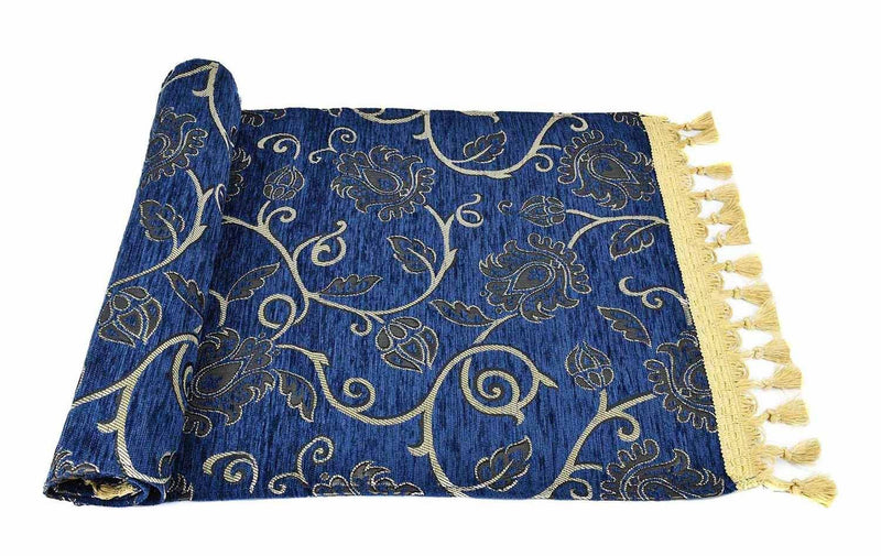 Table Runner New Floral Blue Textile Sydney Grand Bazaar