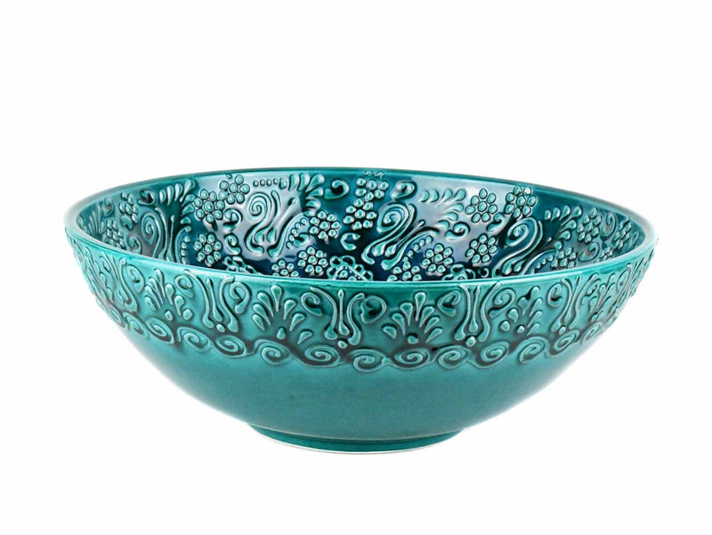 Turkish Ceramic Bowl 25 cm Turquoise Ceramic Sydney Grand Bazaar