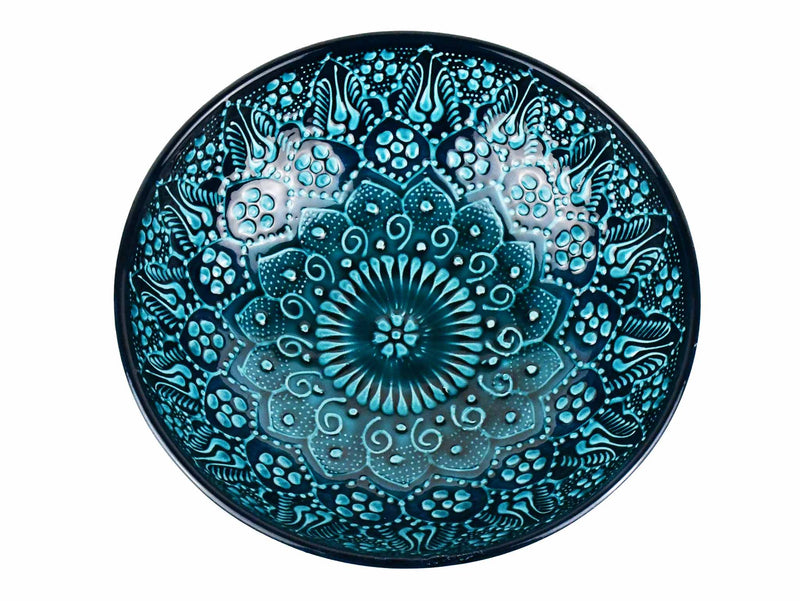 Turkish Ceramic Bowl 25 cm Turquoise Ceramic Sydney Grand Bazaar Design 2