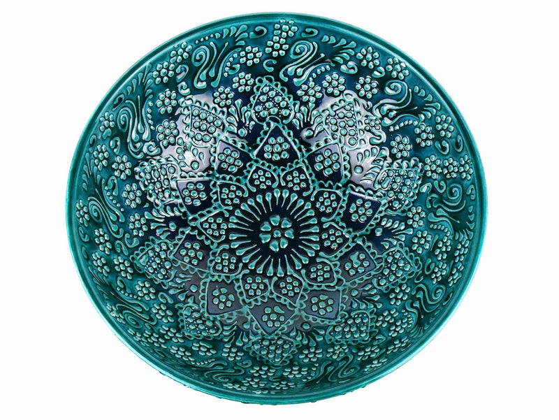 Turkish Ceramic Bowl 25 cm Turquoise Ceramic Sydney Grand Bazaar Design 1