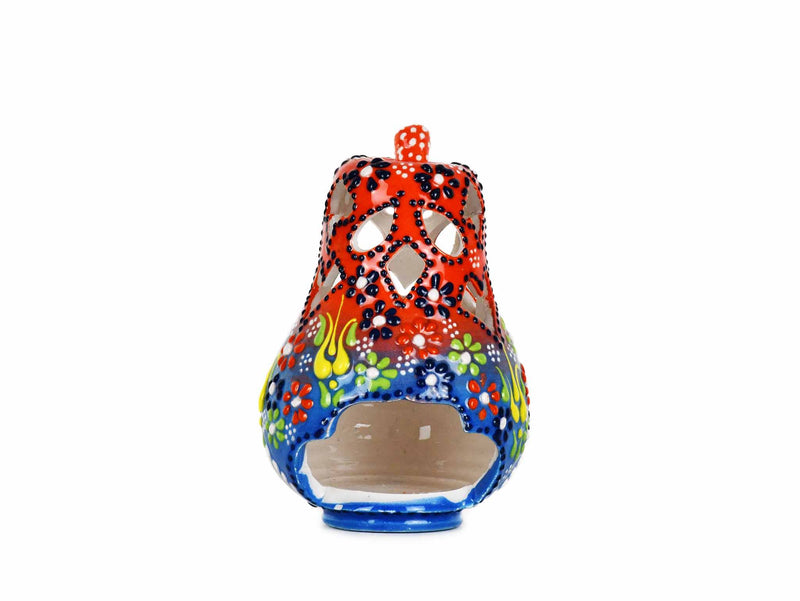 Turkish Ceramic Candle Holder Small Pear Red