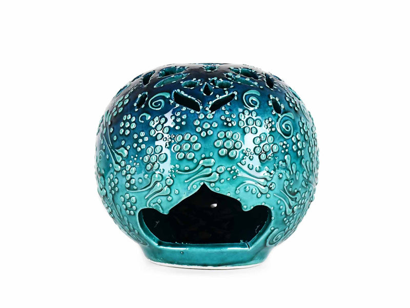 Turkish Ceramic Candle Holders Firuze Turquoise Green Design 1 Ceramic Sydney Grand Bazaar