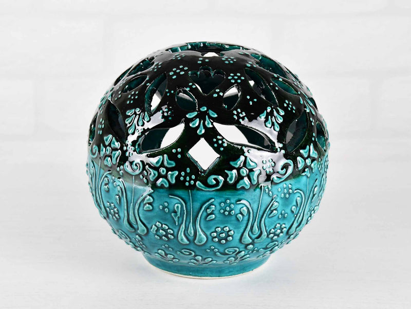 Turkish Ceramic Candle Holders Firuze Turquoise Green Design 2 Ceramic Sydney Grand Bazaar