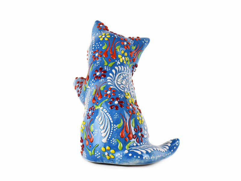 Turkish Ceramic Cat Figurine Dantel Playful Light Blue Design 1 Ceramic Sydney Grand Bazaar