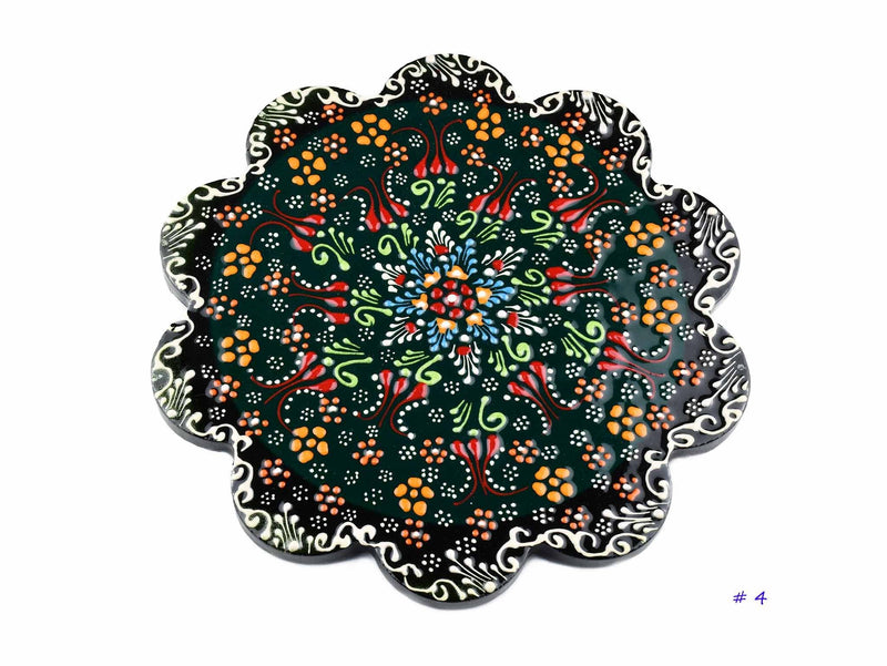 Turkish Ceramic Trivet Dantel Collection Green Ceramic Sydney Grand Bazaar 4