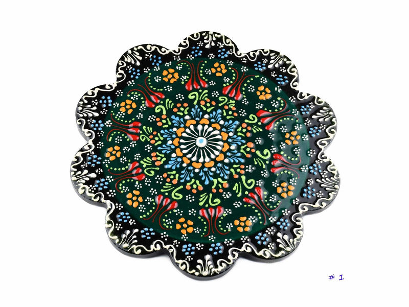Turkish Ceramic Trivet Dantel Collection Green Ceramic Sydney Grand Bazaar 1