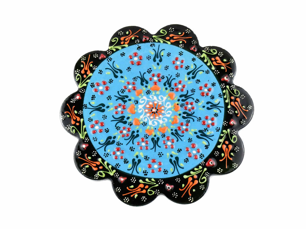 Turkish Ceramic Trivet Dantel Collection Light Blue Ceramic Sydney Grand Bazaar