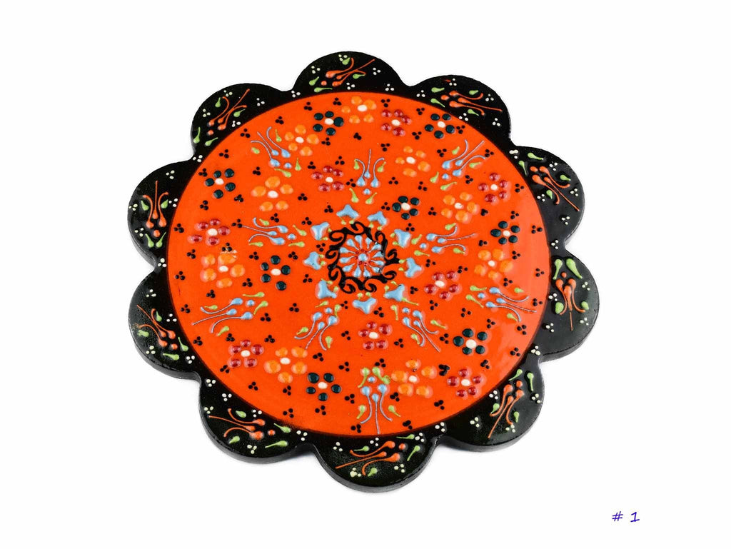 Turkish Ceramic Trivet Dantel Collection Orange Ceramic Sydney Grand Bazaar 1