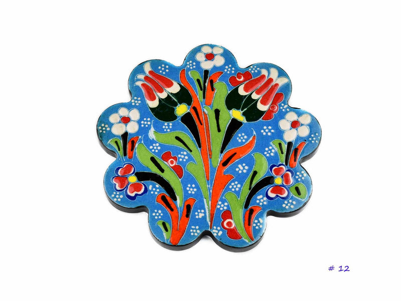 Turkish Coasters Flower Collection Light Blue Ceramic Sydney Grand Bazaar 12