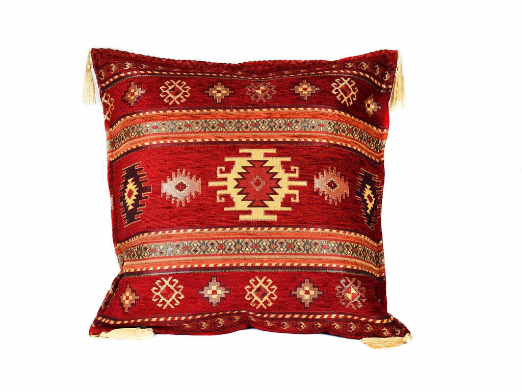 Turkish Cushion Cover Aztec Red Textile Sydney Grand Bazaar