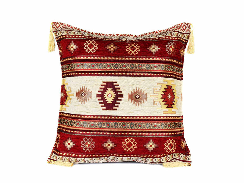 Turkish Cushion Cover Aztec Turquoise Brown