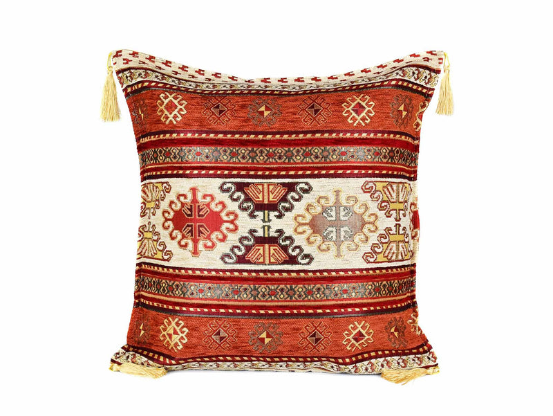 Turkish Cushion Cover Aztec - Rusty Cream Textile Sydney Grand Bazaar
