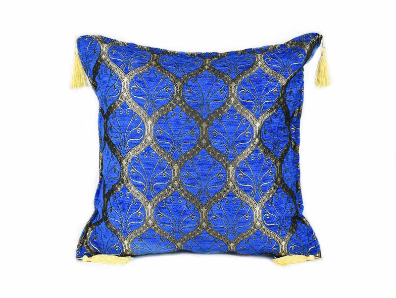Turkish Cushion Cover Traditional Bright Blue Textile Sydney Grand Bazaar