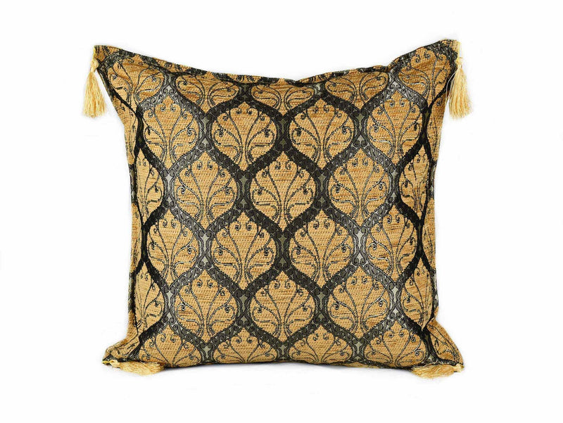 Turkish Cushion Cover Traditional - Golden Brown Textile Sydney Grand Bazaar