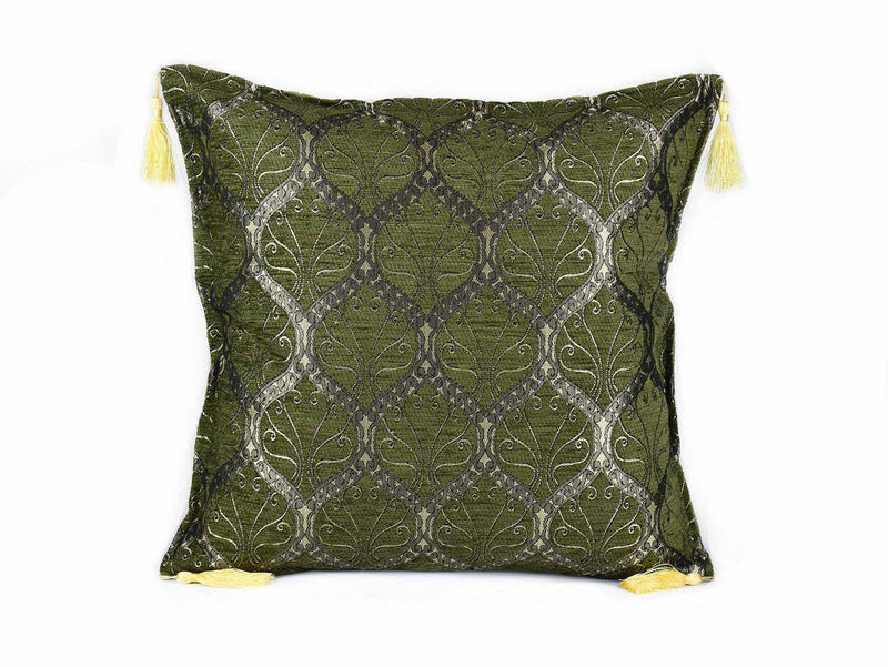 Turkish Cushion Cover Traditional Olive Green Textile Sydney Grand Bazaar