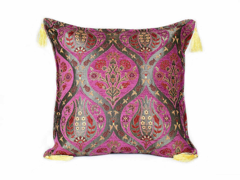 Turkish Cushion Cover Tulip Carnation Purple Textile Sydney Grand Bazaar