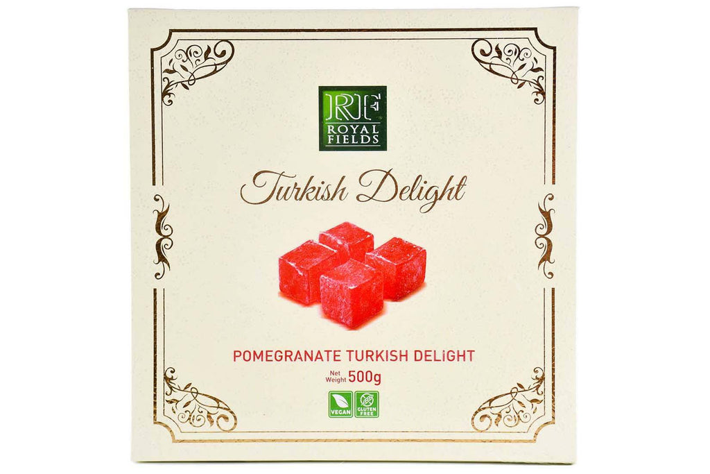 Turkish Delight Pomegranade Flavored Gift Boxed 500g Turkish Pantry Royal Fields