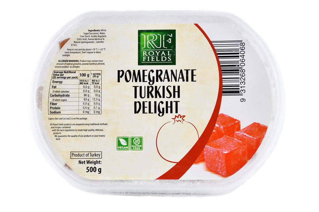 Turkish Delight Pomegranate Flavored 500g Turkish Pantry Royal Fields
