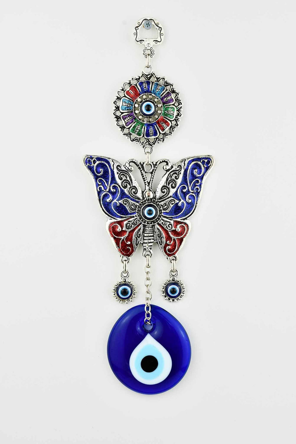 Turkish Evil Eye Butterfly Ornament Medium #1 Evil Eye Sydney Grand Bazaar