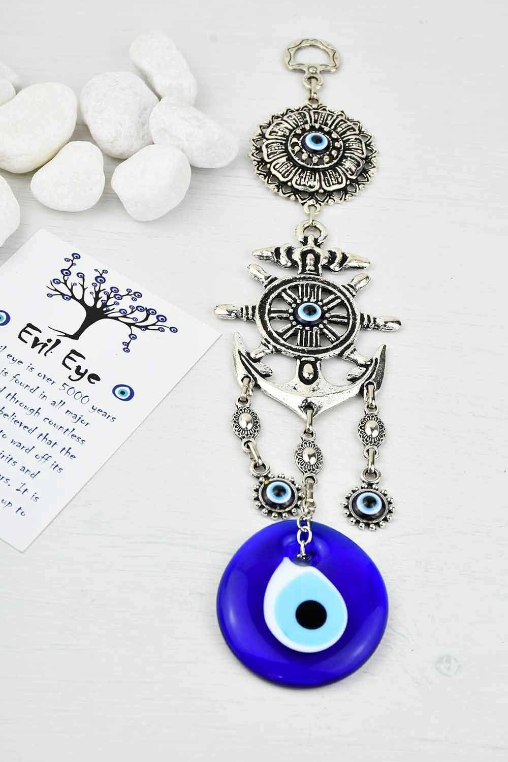 Turkish Evil Eye Wall Ornament Anchor Medium Evil Eye Sydney Grand Bazaar