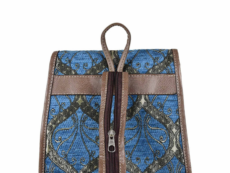 Turkish Handbag Backpack Tradition Light Blue Textile Sydney Grand Bazaar