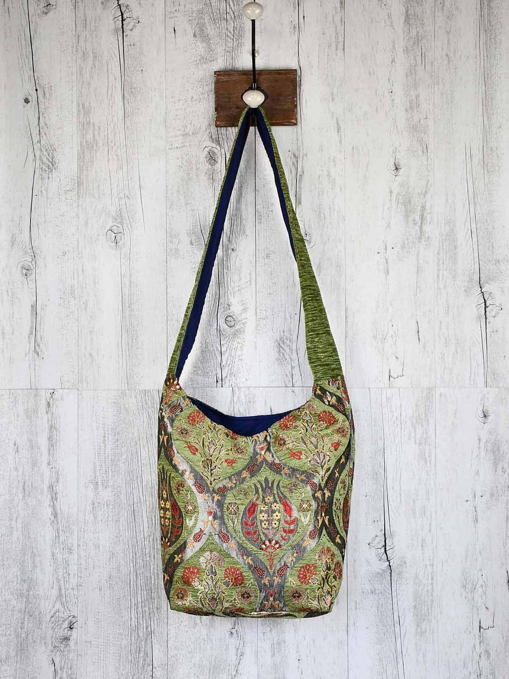 Turkish Handbag Shoulder Tulip Carnation Light Green Textile Sydney Grand Bazaar