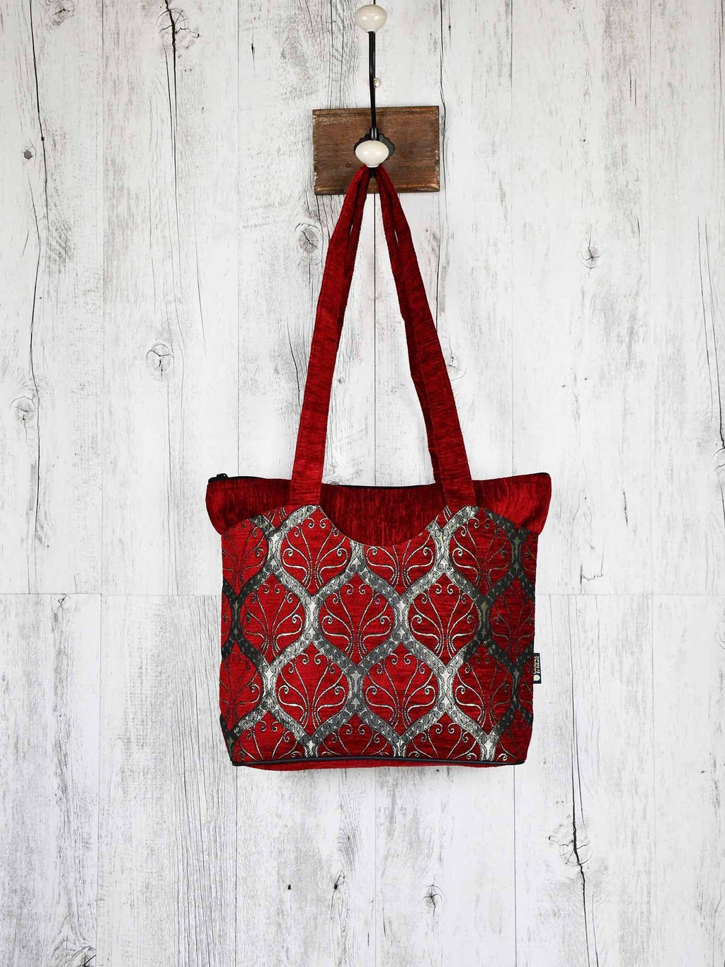 Turkish Handbag Tote Tradition Red Textile Sydney Grand Bazaar