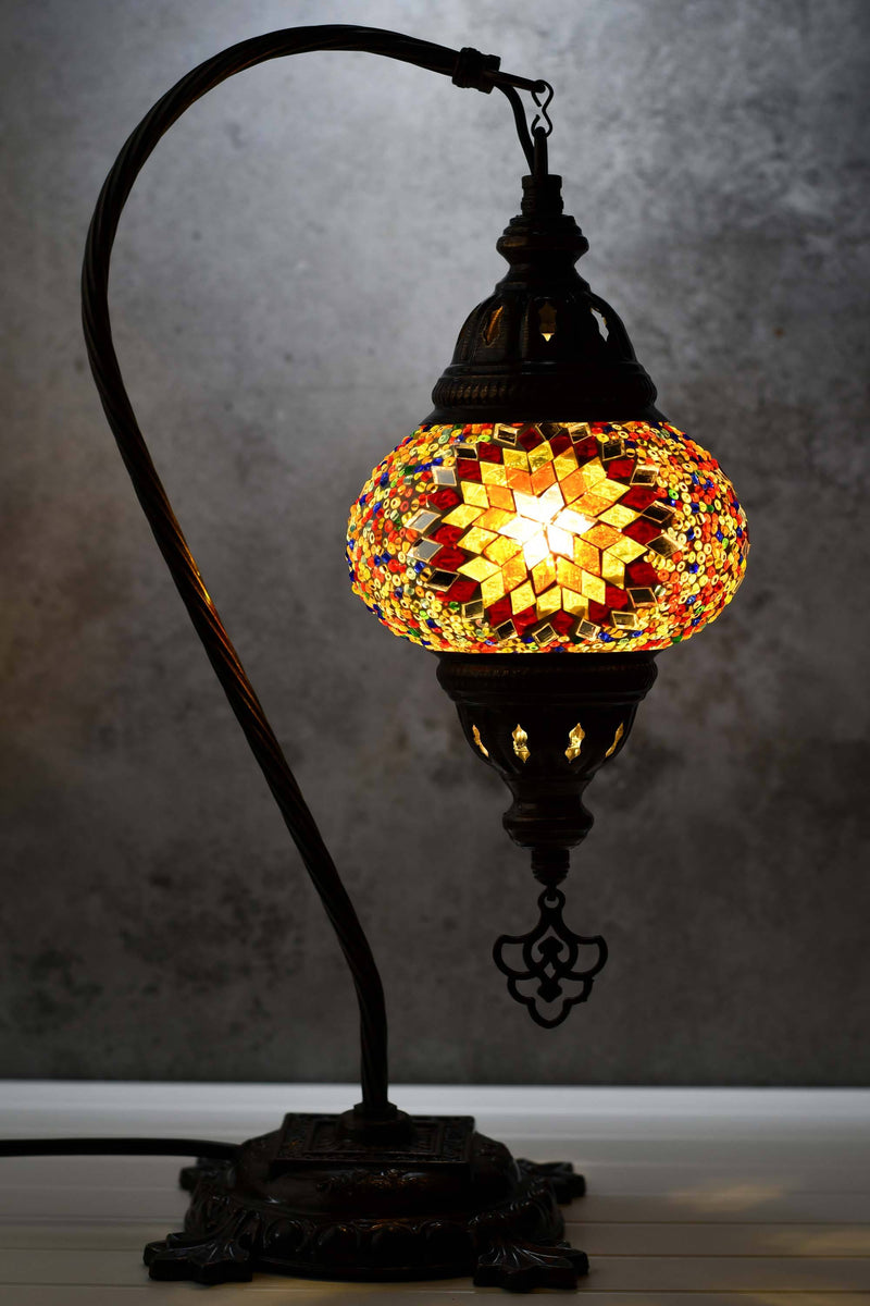 Turkish Lamp Hanging Multicoloured Red Star Beads Lighting Sydney Grand Bazaar