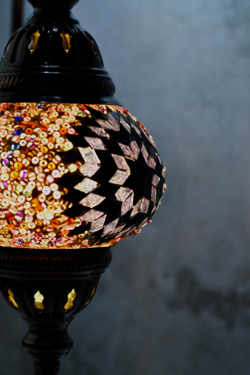 Turkish Lamp Hanging Purple Star Beads Lighting Sydney Grand Bazaar