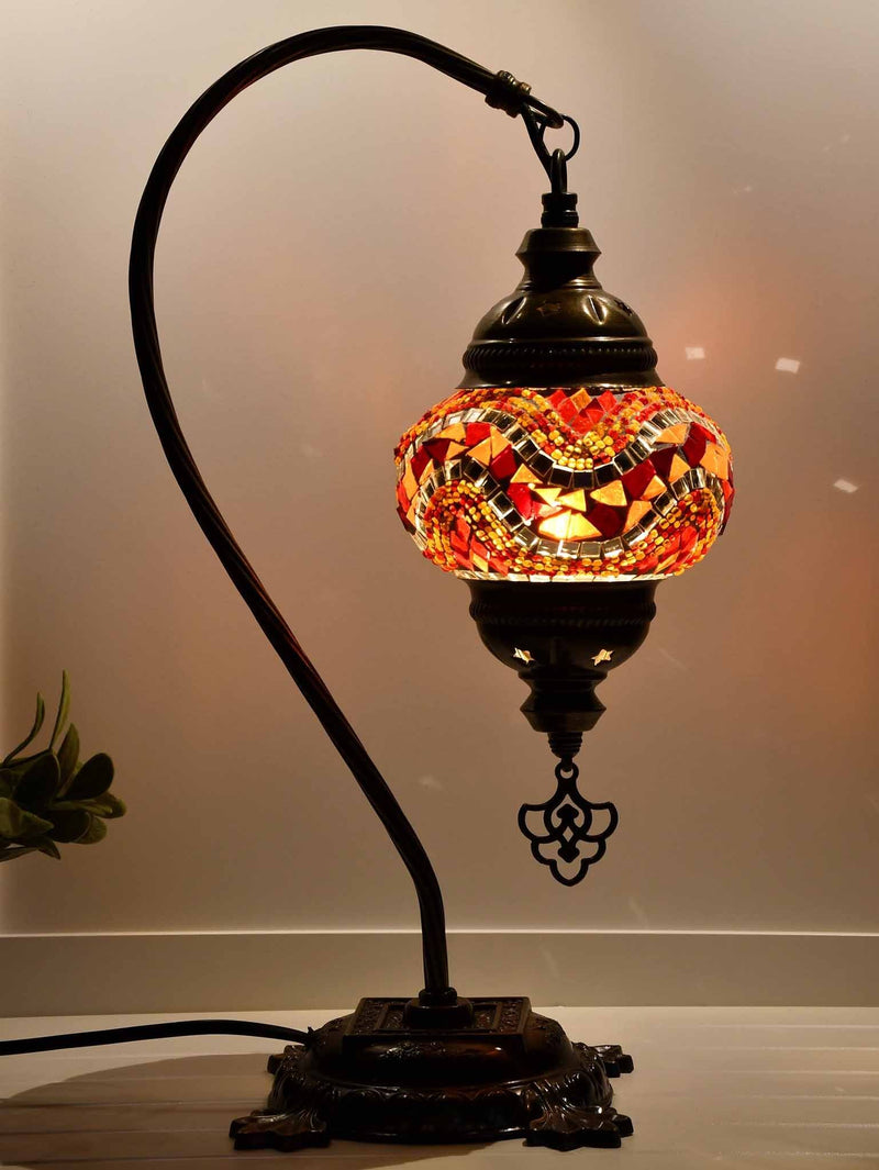 Turkish Lamp Hanging Red Orange Wave Lighting Sydney Grand Bazaar