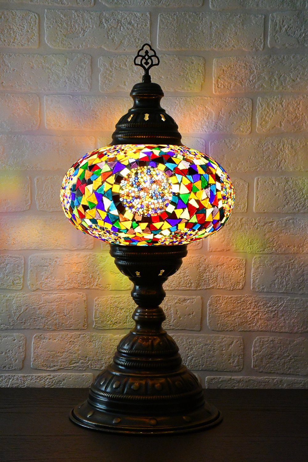 Turkish Lamp Large Multicoloured Mosaic Circle Lighting Sydney Grand Bazaar